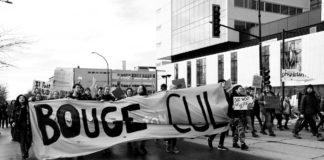 Étudiants de l'UDEM protestent